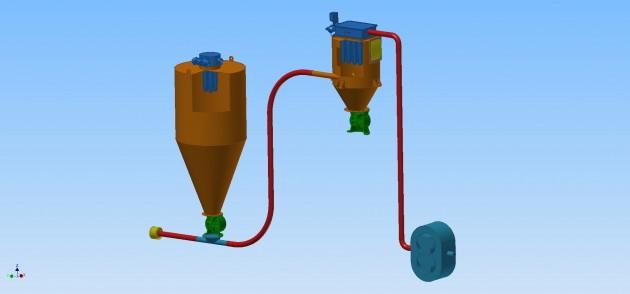 Vacuum Conveying System for bulk materials handling