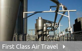 Pneumatic conveying air travel